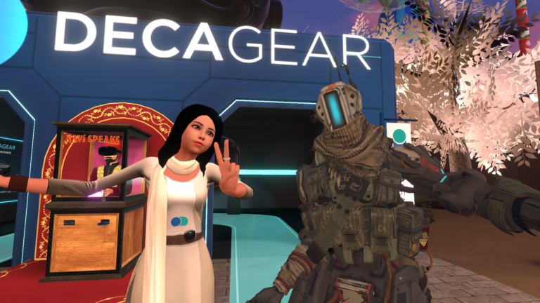 DecaKel and WireWhiz at the DecaGear Booth at Vket6